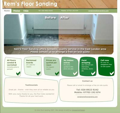 Rems Floor Sanding website